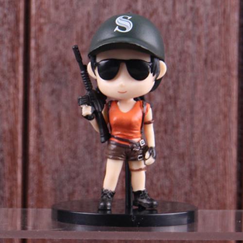 PUBG minifigura - női karakter fekete baseball sapkában figura - KÉSZLETRŐL!