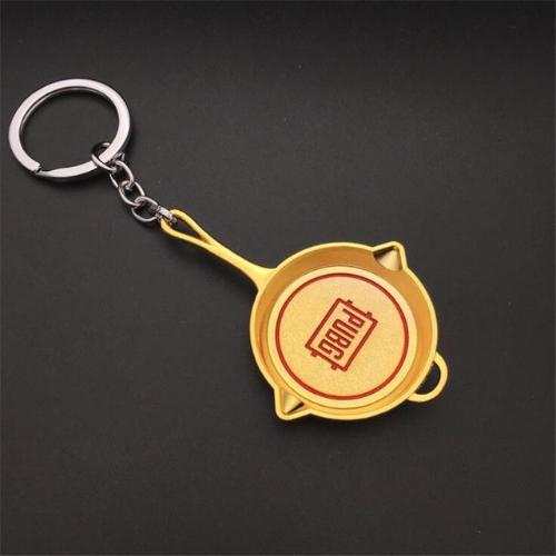 PUBG serpenyő kulcstartó, táskadísz - arany színben