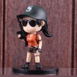 PUBG minifigura - női karakter fekete baseball sapkában figura