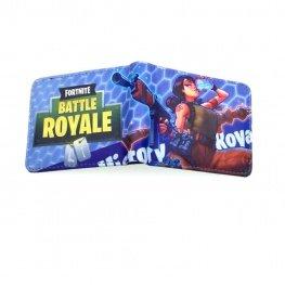 Fortnite Victory Royale gamer pénztárca (érmetartóval) - világoskék méhrács színben