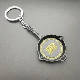 PUBG serpenyő kulcstartó, táskadísz - fekete színben