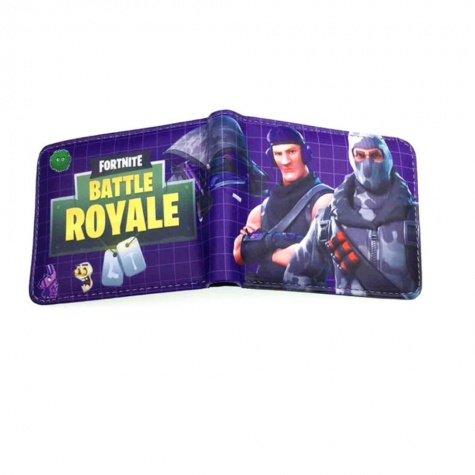 Fortnite Havoc és Sub Commander gamer pénztárca (érmetartóval) - sötétlila színben
