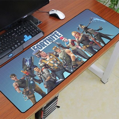 Fortnite XXL gamer szövet egérpad (igazi fanoknak) - kék csoport színben