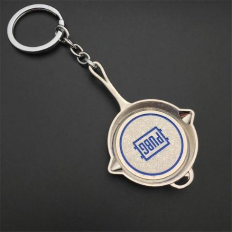 PUBG serpenyő kulcstartó, táskadísz - ezüst színben