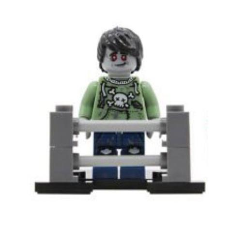 Zombi, punk minifigura kerítéssel