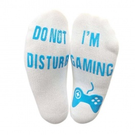 Fortnite zokni - fehér színben kék felirattal