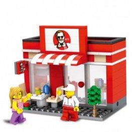 City - KFC szerű gyorsétterem figurával