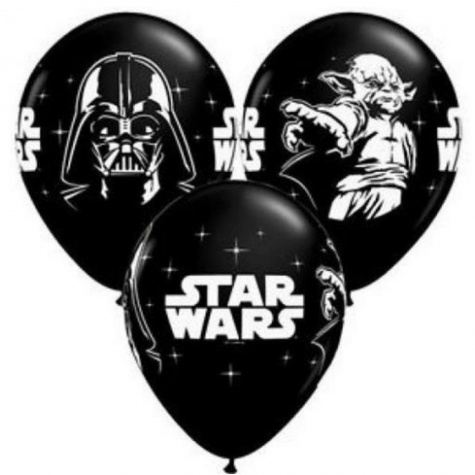 Star Wars lufi (10 db) - Fekete színben
