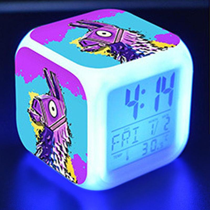 Fortnite éjjeli lámpa órával - Láma színben - KÉSZLETRŐL!