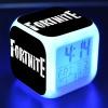 Fortnite éjjeli lámpa órával - fekete logo színben
