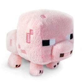 Minecraft plüss figura - Rózsaszín malac (Pink Pig) 20cm méretben