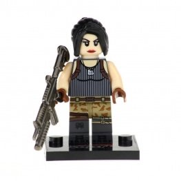 Fortnite, Female Special Soldier minifigura - fényes fegyverrel