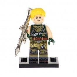 Fortnite, Jonesy minifigura - fényes fegyverrel