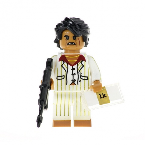 Sebhelyesarcú, Tony Montana minifigura