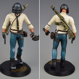 PUBG akciófigura - részletgazdag, 17 cm magas figura. hátán AKM