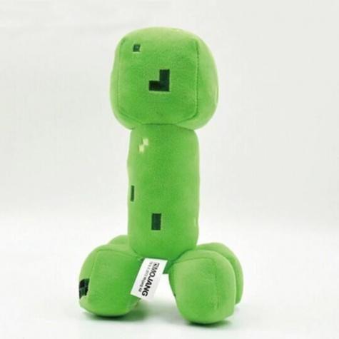 Minecraft plüss figura - Zöld Kúszónövény (Green Creeper JJ) 20cm méretben