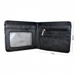 Fortnite Team pénztárca (érmetartóval) -  lilás fekete színben