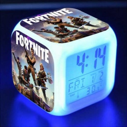 Fortnite éjjeli lámpa órával - team színben