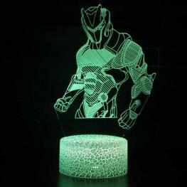 7 színben világító LED-es, gravírozott Fortnite Omega akril szobor távirányítóval
