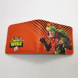 Fortnite Rex gamer pénztárca (érmetartóval) - narancssárga színben