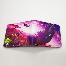 Fortnite Drop gamer pénztárca (érmetartóval) - lilás rózsaszín színben