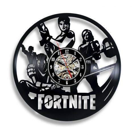 Egyedi bakelit lemez mintájú Fortnite falióra