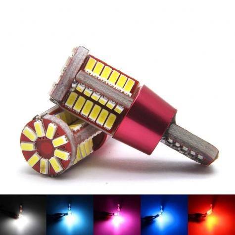 T10 szuper fényes 4014 SMD LED - Műszerfal és helyzetjelző világításhoz - sárga fényű
