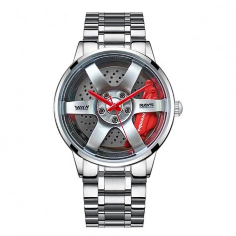 Volk Racing TE37 Rays Silver Edition karóra - ezüst / piros