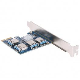 PCI-E elosztó kártya - riser szám bővítéshez