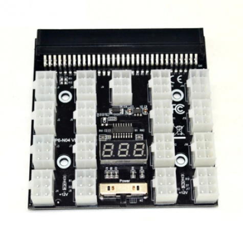 17 x 6pin-es Szerver Táphoz való Breakout Board Adapter (kábel nélkül)