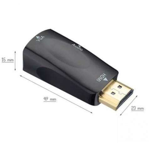 HDMI-ből VGA-ra átalakító - VGA monitorok üzemeltetéséhez