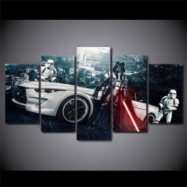 5 részes, alternatív Star Wars témájú vászonkép