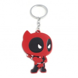 Deadpool kulcstartó, táskadísz - karbatett kézzel