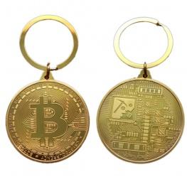 Limitált kiadású, egyedi Bitcoin kulcstartó, táskadísz (2018-as kiadás) - arany színben