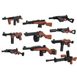 Minifigura modern fegyverek - 10 darab