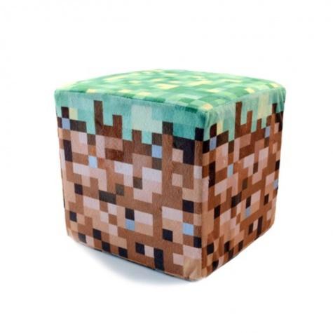 Minecraft párna - föld kocka 20cm méretben