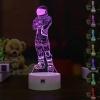 7 színben világító LED-es, gravírozott Fortnite Dark Voyager akril szobor távirányítóval