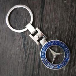 Mercedes-Benz kulcstartó, táskadísz - kék színben