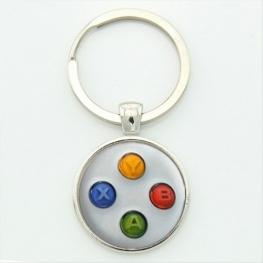 Xbox controller kulcstartó, táskadísz - fehér színben