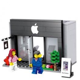 City - Apple üzlet figurával