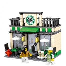 City - Starbucks Coffee üzlet figurával