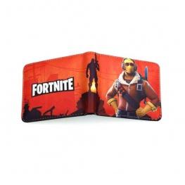 Fortnite Raptor gamer pénztárca (érmetartóval) - narancssárga színben