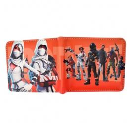 Fortnite Season 3 gamer pénztárca (érmetartóval) - narancssárga színben