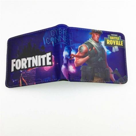 Fortnite Save the World gamer pénztárca (érmetartóval) - sötétlila színben
