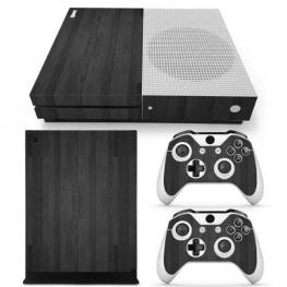 Fedő matrica Xbox One S konzolra és contollerre - fekete fa színben