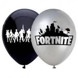 Fortnite lufi (10 db) - Fekete és ezüst színben