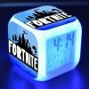 Fortnite éjjeli lámpa órával - fekete fehér logo színben