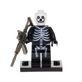 Fortnite, Skull Trooper minifigura - fényes fegyverrel
