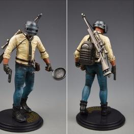 PUBG akciófigura - részletgazdag, 17 cm magas figura. hátán hátizsák és M24