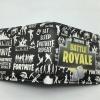 Fortnite Battle Royale pénztárca (érmetartóval) -  fekete színben Eat Sleep Fortnite Repeat feliratokkal